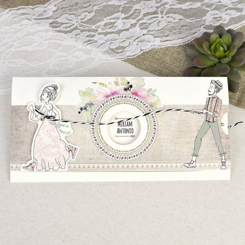 Wedding Invitation Boyfriends Rope Cardnovel 39634