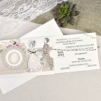 Invitación de boda novios cuerda Cardnovel 39634 abierta