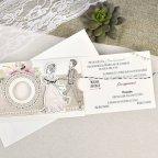 Invito a nozze sposa e sposo Cardnovel 39634 aperto