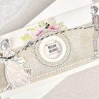 Invitación de boda novios cuerda Cardnovel 39634 detalle
