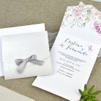 39636 Mother-of-pearl wedding invitation Cardnovel 39636 inside