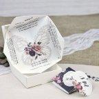 Invitación de boda comecocos mariposa Cardnovel 39638 abierta