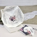 39638 Butterfly Cardnovel Wedding Invitation Open