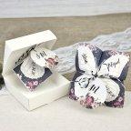 Scatola di invito matrimonio comecocos farfalla Cardnovel 39638