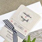 Poster di invito a nozze sposa e sposo Cardnovel 39640 dettaglio