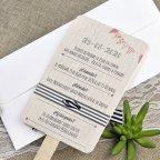 Invitación de boda cartel novios Cardnovel 39640 trasera