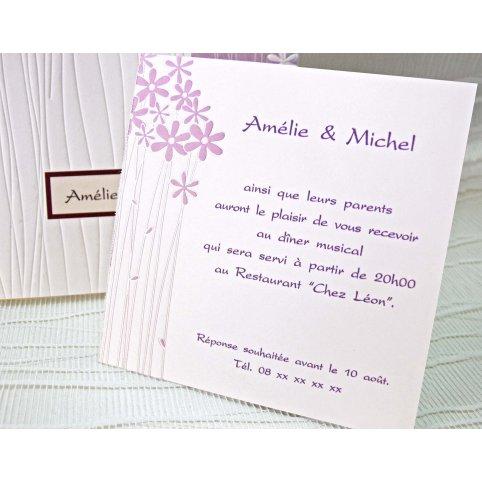 Biglietto di ringraziamento Invito a nozze fiori Cardnovel 42717