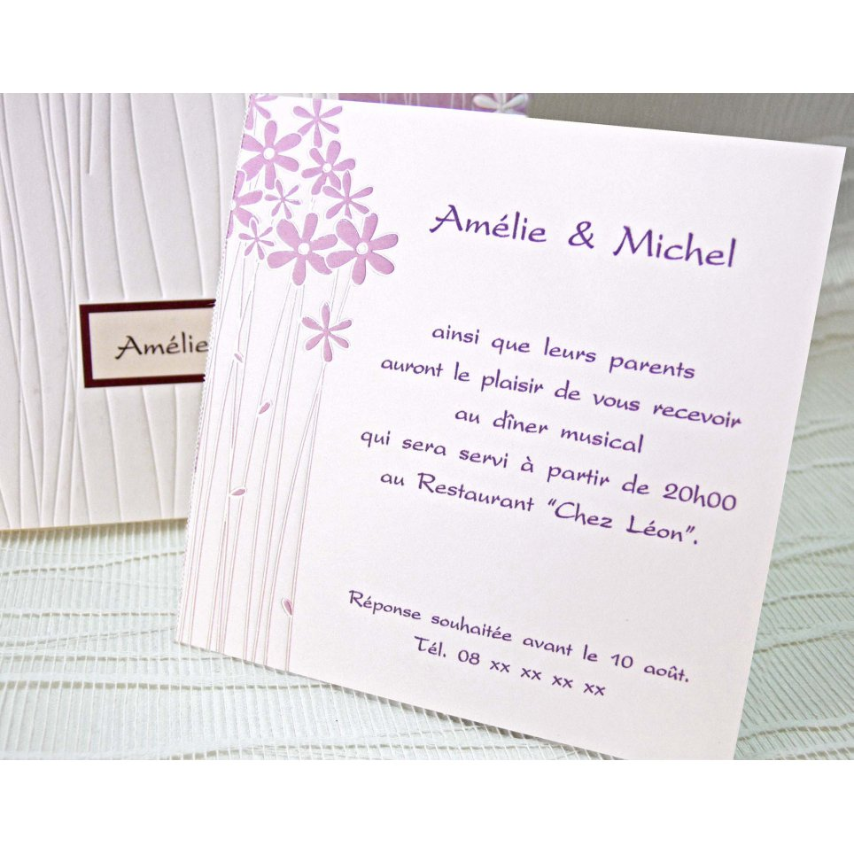 Tarjeta de agradecimiento Invitación de boda flores Cardnovel 42717