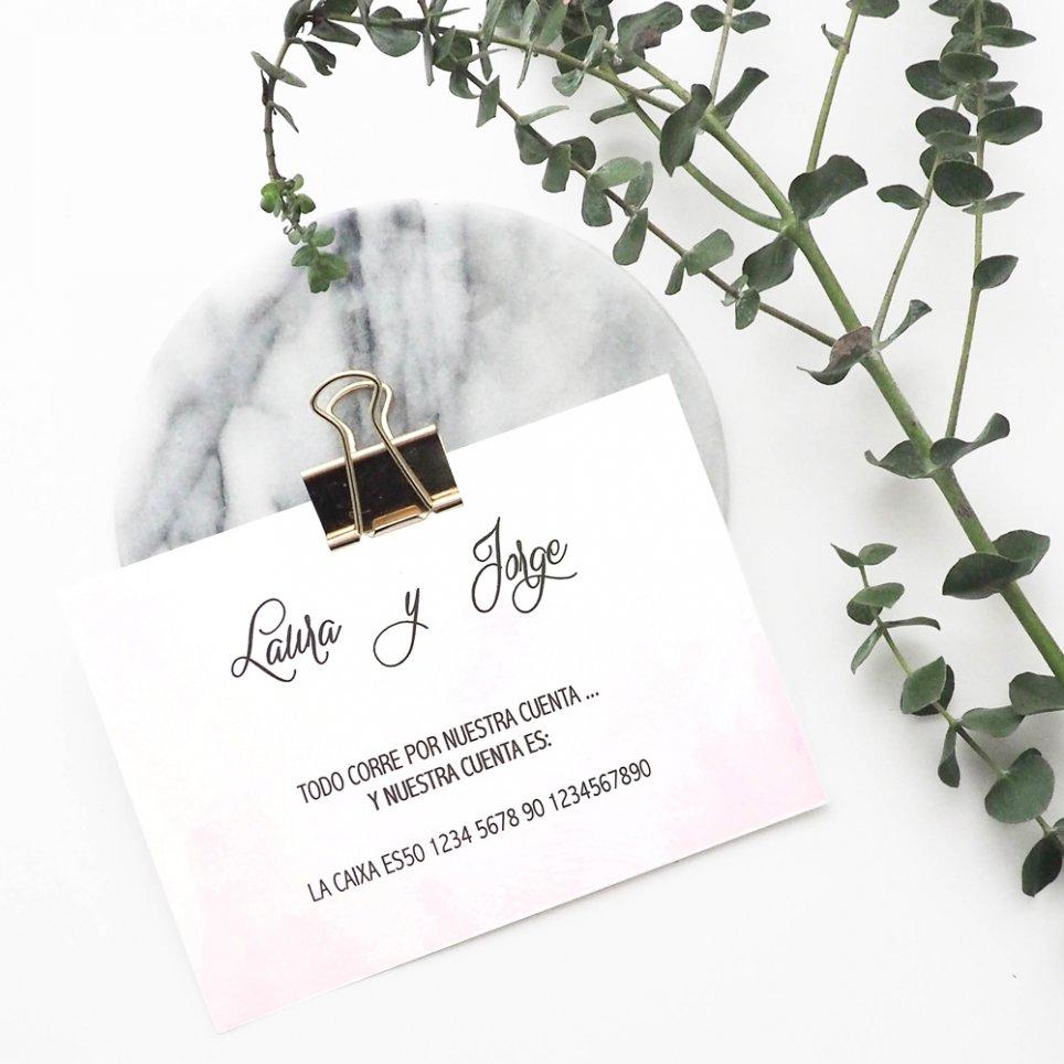 Tarjeta de agradecimiento lisa rosada, Cardnovel 49762