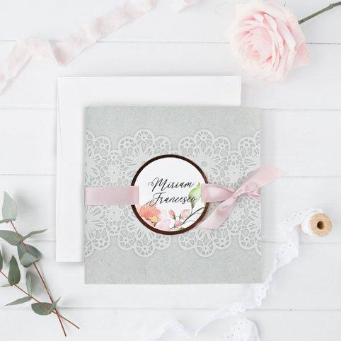 Lace Tip Wedding Invitation, Cardnovel 39728