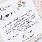 Invitación de boda puntilla de encaje, Cardnovel 39728