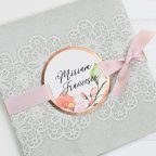 Lace Tip Wedding Invitation, Cardnovel 39728
