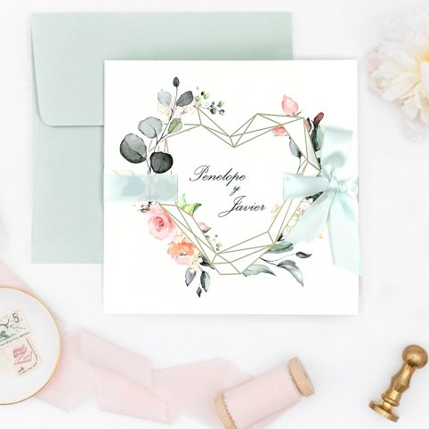 Hochzeitseinladung Bogen und Herz, Cardnovel 39724