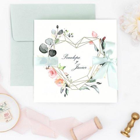 Invitación de boda lazo y corazón, Cardnovel 39724