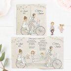 Invitación de boda hijos en bicicleta, Cardnovel 39714