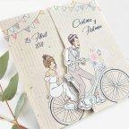Invito a nozze bambini in bicicletta, Cardnovel 39714