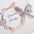 Invitación de boda rosa y cobre, Cardnovel 39716
