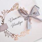 Invito a nozze rosa e rame, Cardnovel 39716
