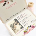 Wedding Invitation Passport with Scratch, Cardnovel 39701