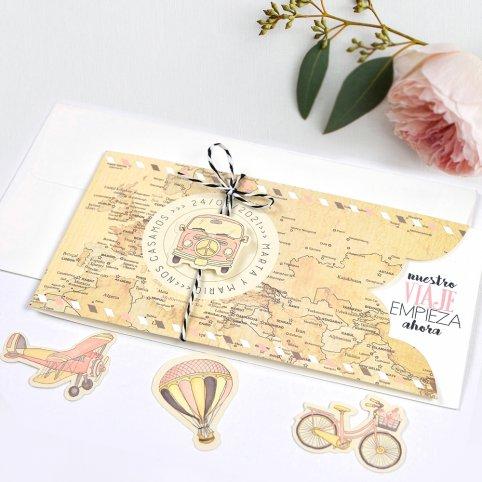 Wedding Invitation Travels by Balloon, Cardnovel 39703