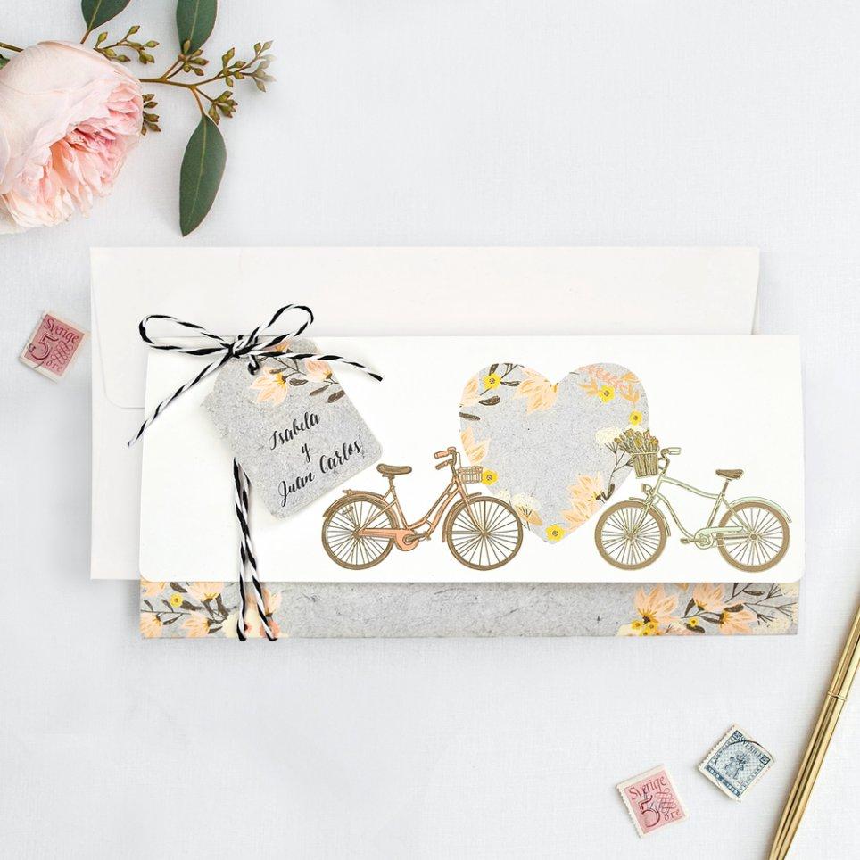 Fahrradhochzeitseinladung mit Liebe, Cardnovel 39717