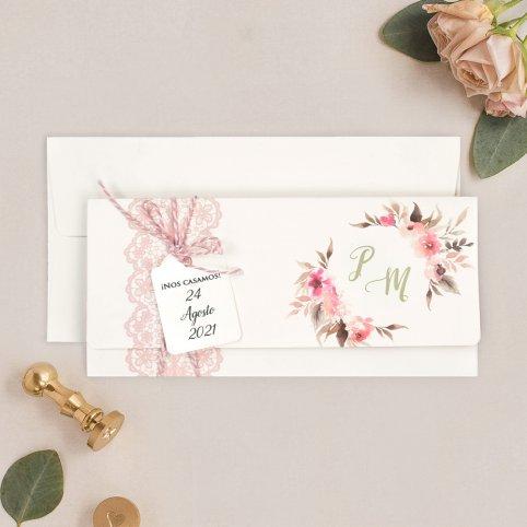Invitación de boda calendario y foto, Cardnovel 39718