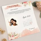 Wedding Invitation Calendar and Photo, Cardnovel 39718