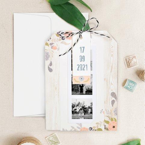 Fotoautomat Hochzeitseinladung, Cardnovel 39725