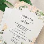 Invitación de boda Just Married, Cardnovel 39727