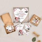 Puzzle Hochzeitseinladung Mickey und Minnie, Cardnovel 39738