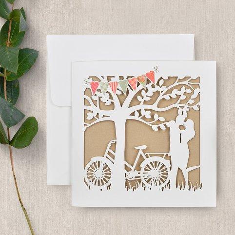 Wedding Invitation In love under the tree, Cardnovel 39733