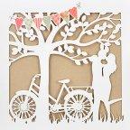 Invito a nozze innamorato sotto l'albero, Cardnovel 39733