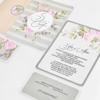Initial Wedding Invitation with Flowers, Cardnovel 39740