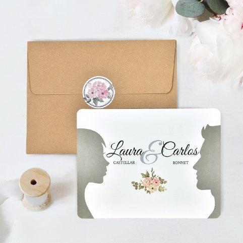 Invitación de boda cara a cara, Cardnovel 39741