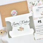 Face-to-face wedding invitation, Cardnovel 39741