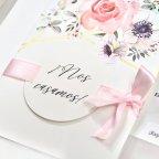 Invito a nozze con rose e oro, Cardnovel 39723