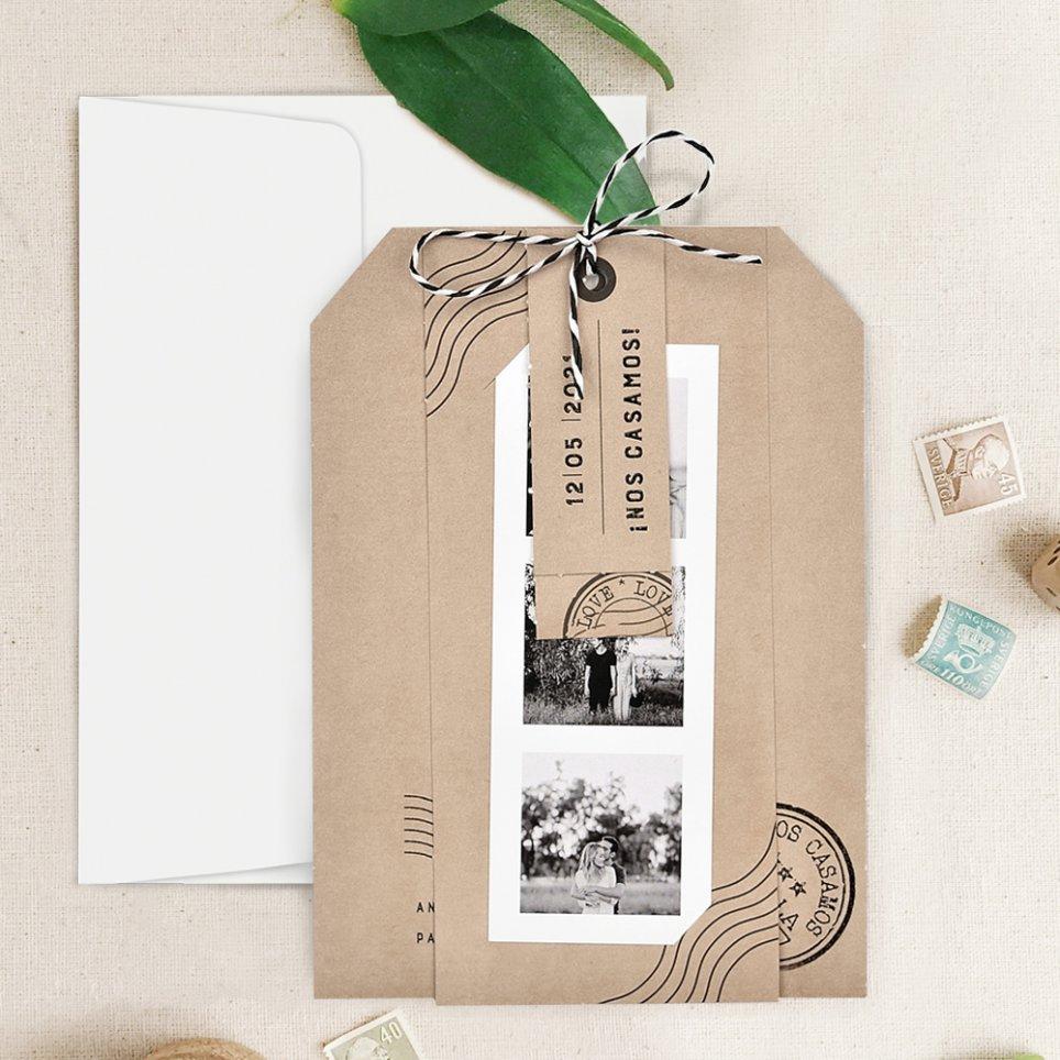 Kraft Farbe Hochzeitseinladung, Cardnovel 39731
