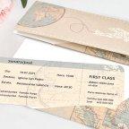 Hochzeitseinladung fliegen mit dem Flugzeug, Cardnovel 39704