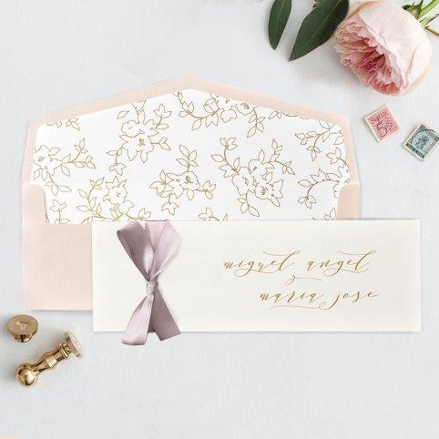 Carta premium per invito a nozze, Cardnovel 39735