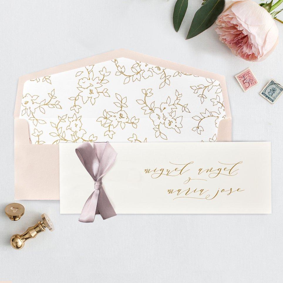Invitación de boda tarjetón premium, Cardnovel 39735