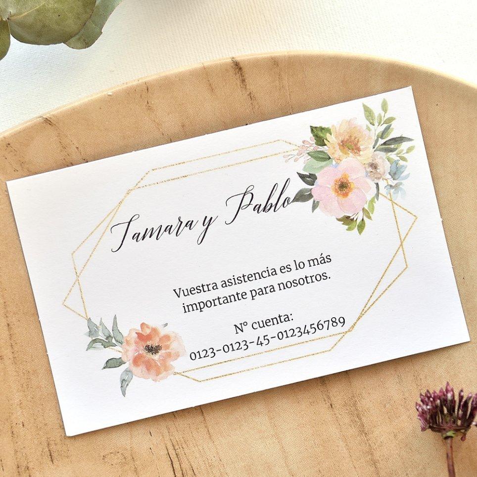 Tarjeta de agradecimiento flores, Cardnovel 49791