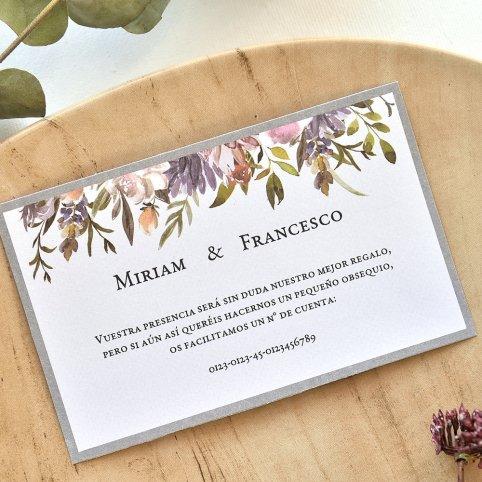 Tarjeta de agradecimiento flores y marco, Cardnovel 49765