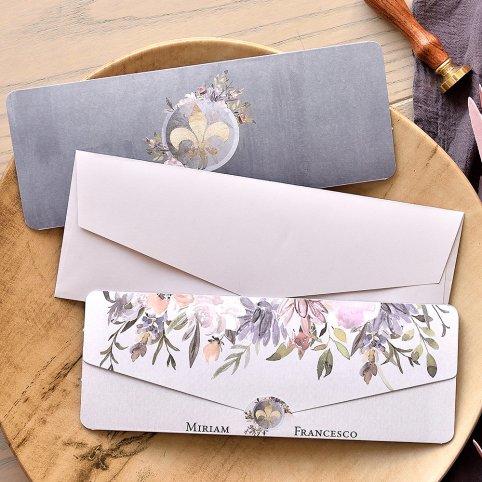 Lis Flower Wedding Invitation, Cardnovel 39765