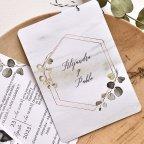 Invitación de boda fotomatón y hojas, Cardnovel 39784