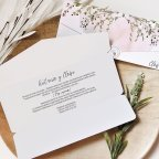 Halbumschlag Hochzeitseinladung Liebesgeschichte, Cardnovel 39760