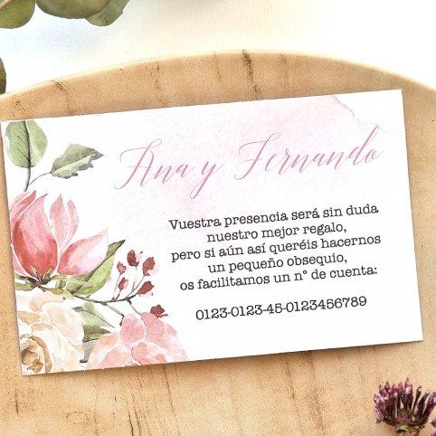 Tarjeta de agradecimiento rosas y fondo, Cardnovel 49792
