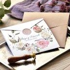 Invitación de boda semisobre en postal, Cardnovel 39777