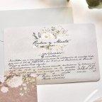 2-seitige Hochzeitseinladung, Cardnovel 39782