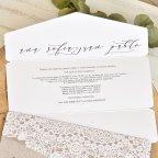 Halbumschlag Hochzeitseinladung mit Spitze, Cardnovel 39764