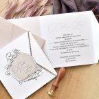 Semi-on-Ground Hochzeitseinladung, Cardnovel 39772